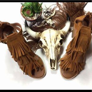 Jeffrey Campbell ibiza last fringe sandals
